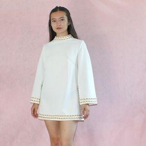 (392) VTG 1960s Mod Mini Tunic Dress